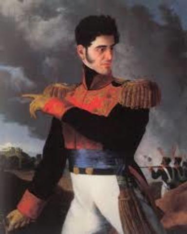 Santa Anna ocupa la presidencia de México.