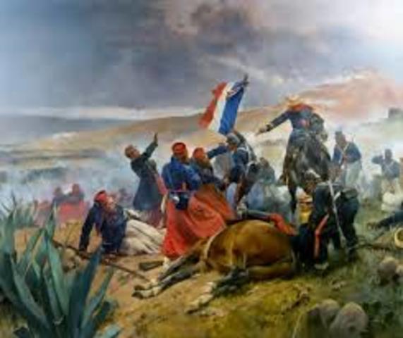 Nueva intervención francesa: El presidente de los Estados Unidos James Knox Polk, le declaro la guerra a México con el pretexto de que habían invadido su territorio.