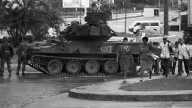 U.S. invades Panama