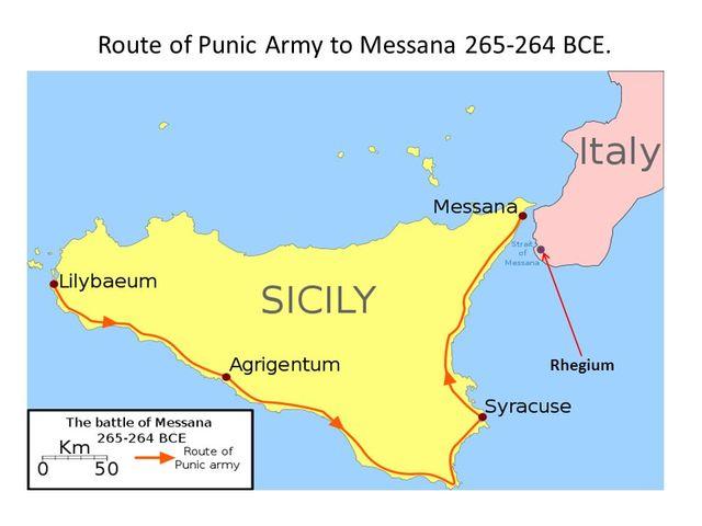Mamertini chiedono aiuto ai Cartaginesi