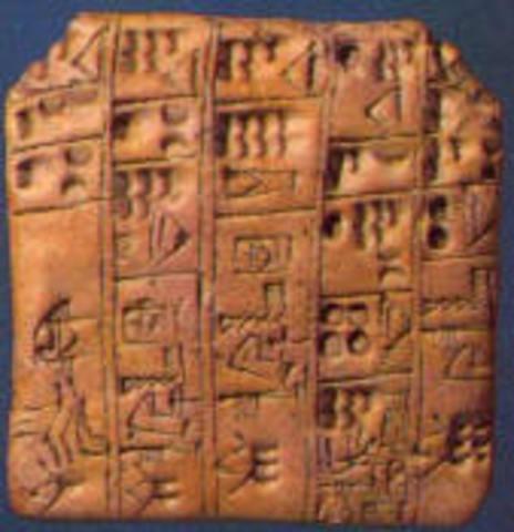 Apareixement de l'escriptura/ Inici de l'edat Antiga