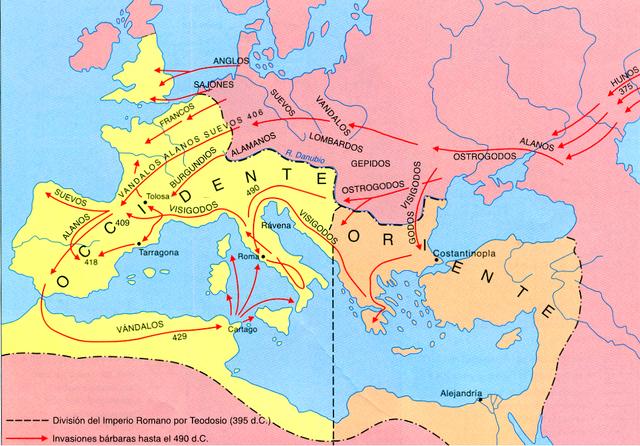 Final de l'edat Antiga/Caiguda de l'Imperi romà d'Occident