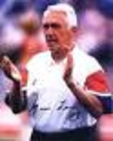 began his professional football coaching career