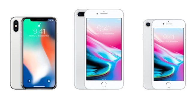 iPhone 8, 8 plus y iPhone X