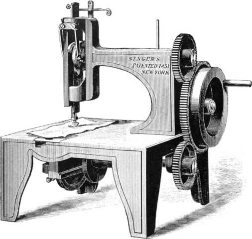 Elias Howe's sewing machine is improved
