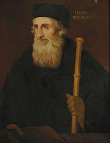 Religious - John Wycliffe is Born