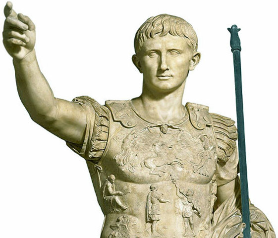 August es va convertir en el primer emperador romà.