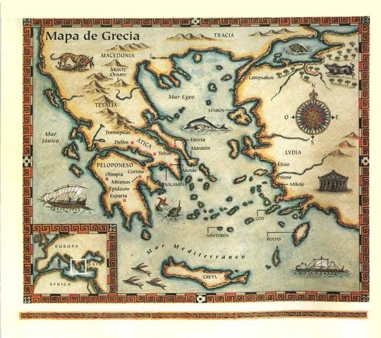 Ubicación de Grecia