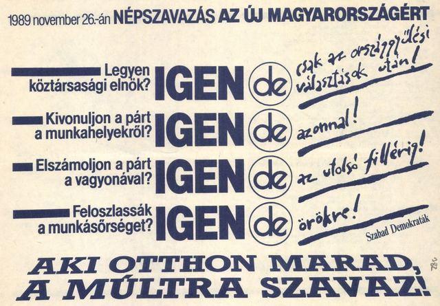 """A """"négyigenes"""" népszavazás"""