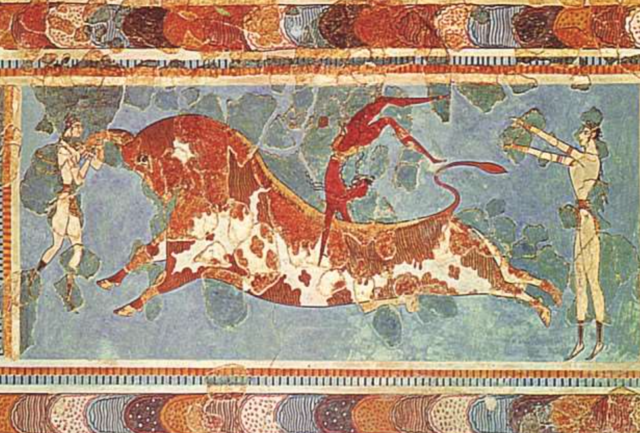 Bull-leaping Fresco from Knossos 1500 BC