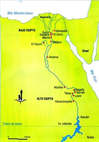 Ubicacion geografica de Egipto