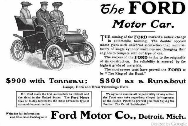 US: Ford Motor Company formed
