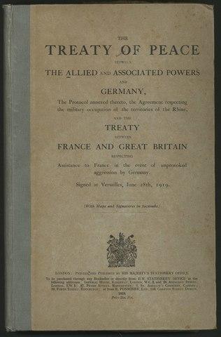 China: The Treaty of Versailles