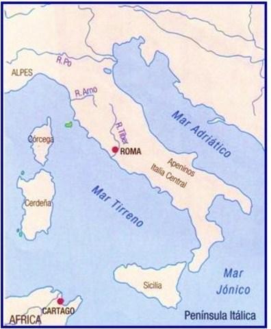 Ubicacion geografica de Roma