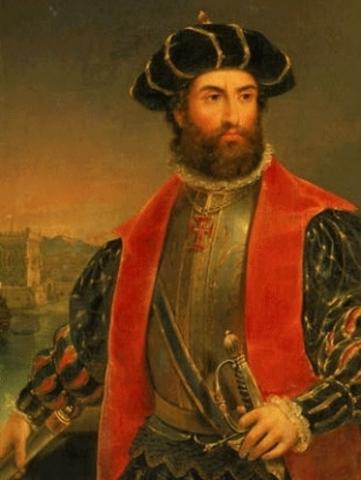 A expedicão de Vasco da Gama chega a India