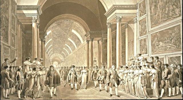 Inauguración del museo del Louvre.