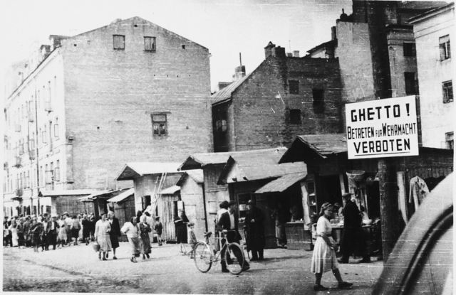 The Jews were forced into the Ghettos