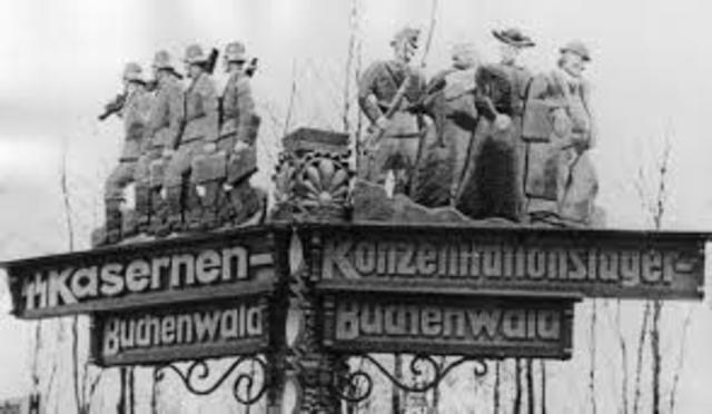 Arriving at Buchenwald