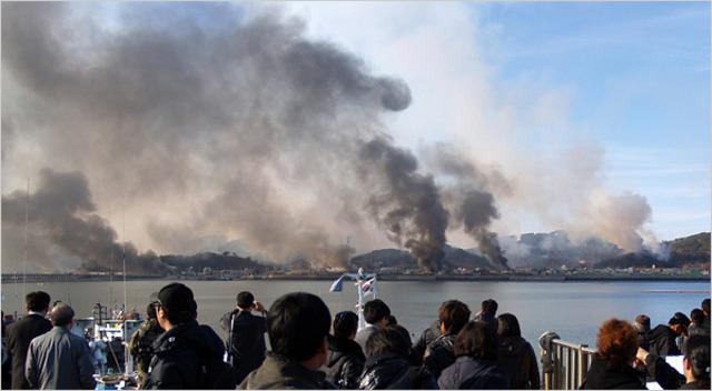 North Korea fires on South Korea