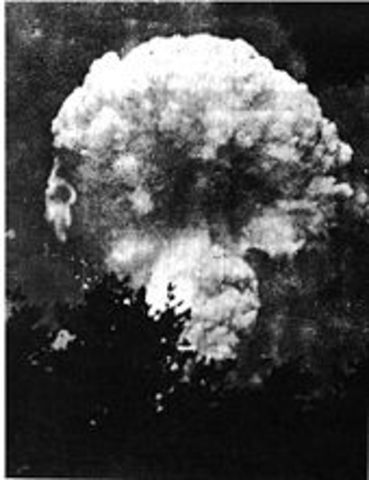 The First Atom Bomb is Dropped