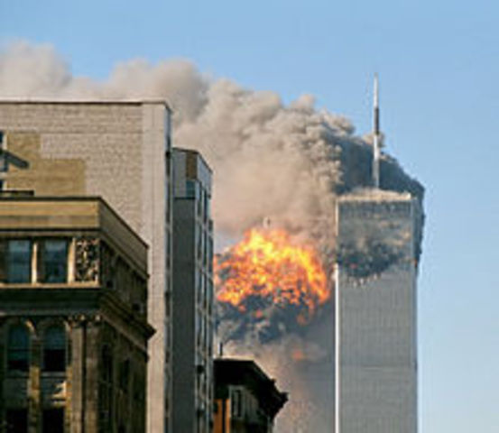 The Twin Towers are destroyed