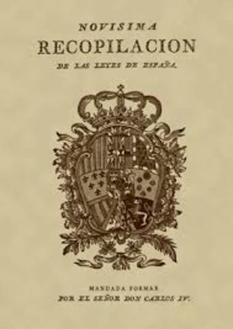 Recopilación de las leyes de España.