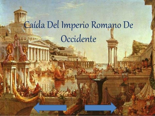 La caída del Imperio romano de Occidente