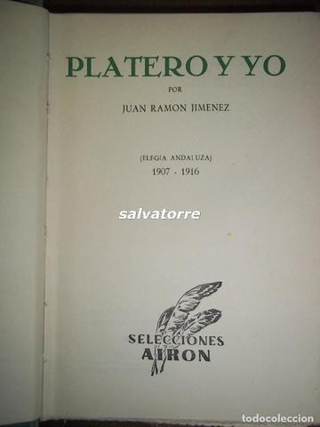 PLATERO Y YO. Juan Ramón Jiménez