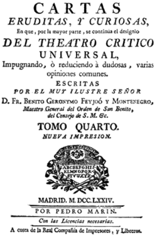CARTAS ERUDITAS (Benito Jerónimo Feijoo)