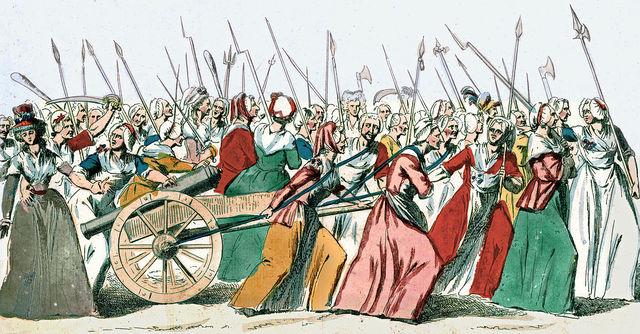 Women's March to Versailles; king's return to Paris