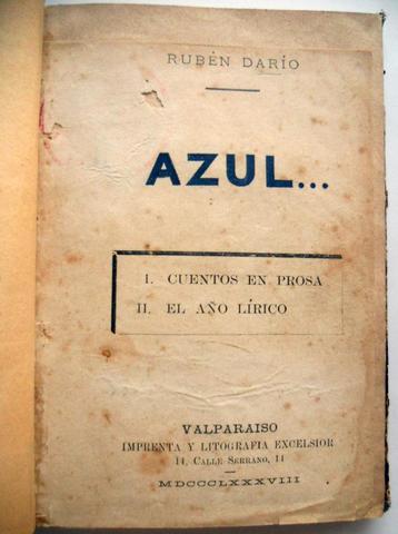 AZUL (Rubén Darío)