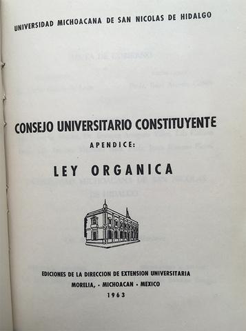 Ley Orgánica de 1963