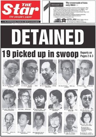 27 October 1987 - Ops Lalang (Operation Lalang)