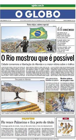 """O Globo: """"O Rio mostrou que é possível"""""""