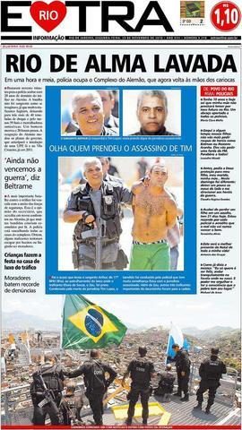 "Extra: ""Rio de alma lavada"""