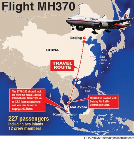8 March 2018: Malaysia Airlines Flight 370 disappeared