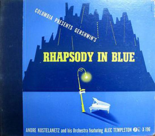 """George Gershwin releases """"Rhapsody in blue"""""""