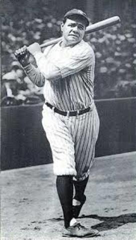 Babe ruth hits 60 home runs
