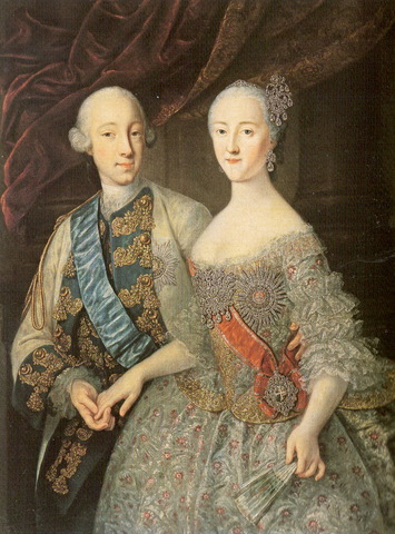 Peter III, Catherine the Great's husband becomes ruler of Russia