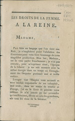 """Olympe de Gouges- """"The Rights of Women"""""""