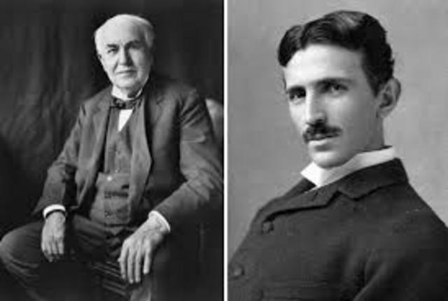 Parts ways with Nikola Tesla