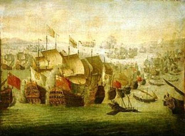 Ocurre la Batalla de Málaga en el marco de la Guerra de sucesión española.