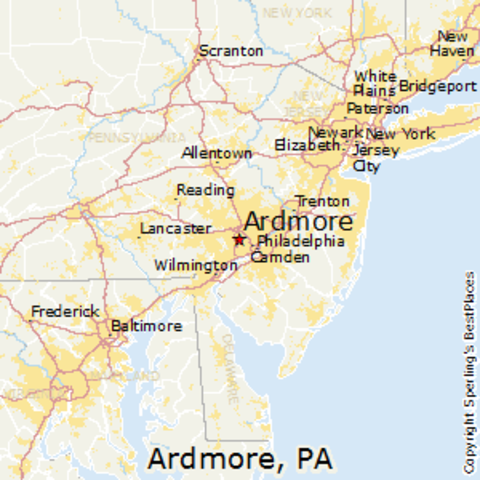 Lived in Ardmore, Pennsylvania