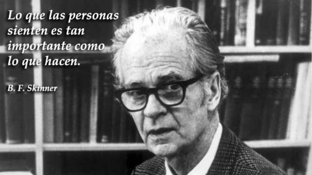 Burrhus Frederic Skinner conocido como B. F. Skinner (1904-19909