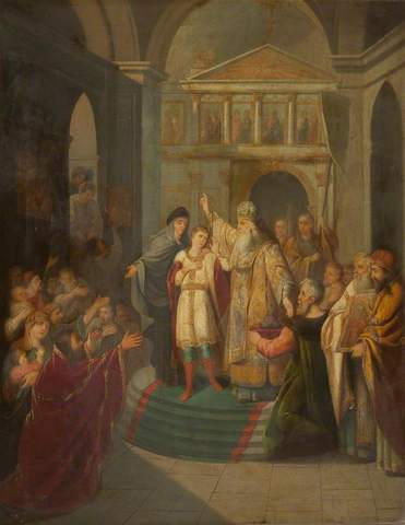Ivan is crowned czar of Muscovy and marries his first wife