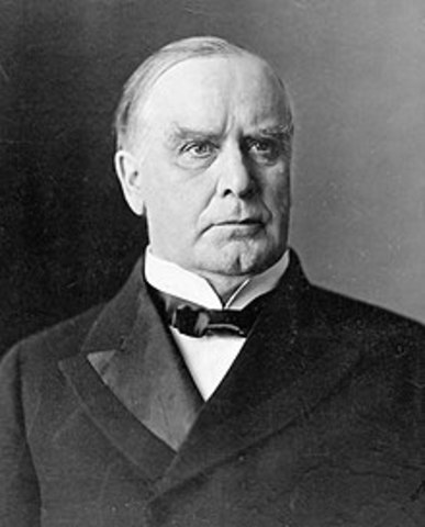 President McKinley is shot and killed