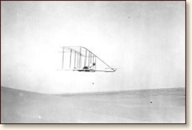 The Wright Brothers make first flight