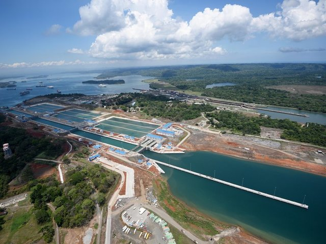 Panama Canal is built