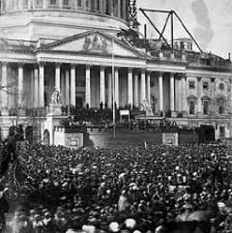 Abraham Lincoln is inaugurated as the 16th President