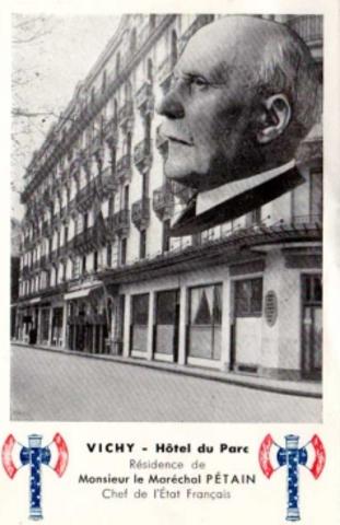 Installation de Pétain à Vichy